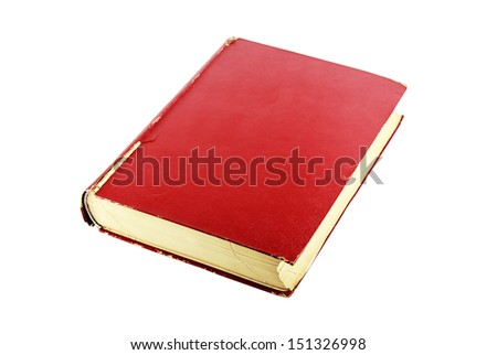 old red book vintage isolated on white background , with clipping path