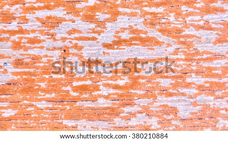 Old red brown laminated hoist wood material texture background interior vintage design - stock photo