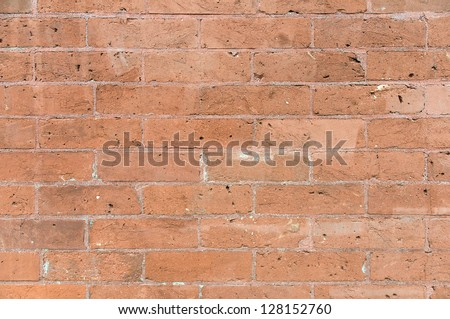 Old red building brick wall background texture - stock photo