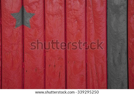 Old, red grunge wood background.