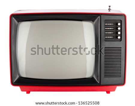 old red retro TV