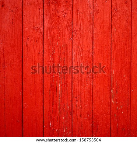 Old red wooden background - stock photo