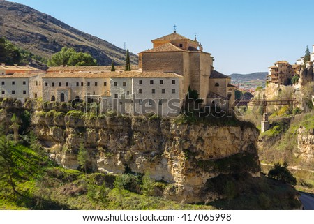 Old restored convent of Cuenca, Spain