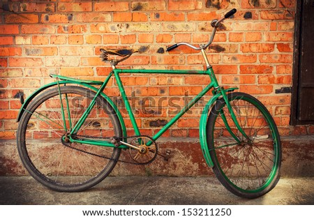 Old retro bicycle