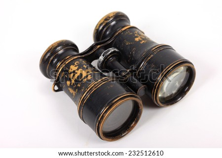 Old retro binoculars - stock photo
