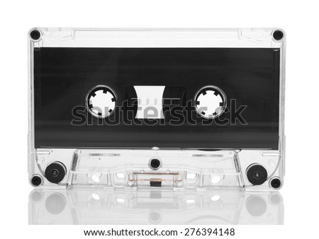 Old retro cassette isolated on white background