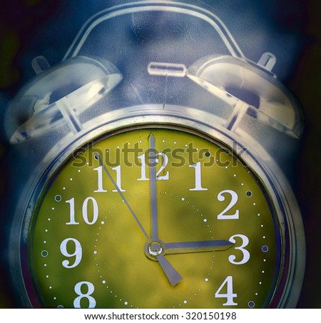 old retro clock concept Insomnia - stock photo