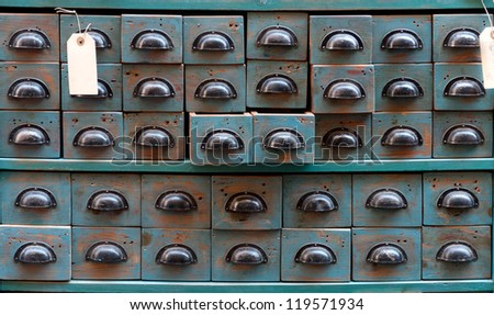 Old retro drawers ideal for backgrounds - stock photo