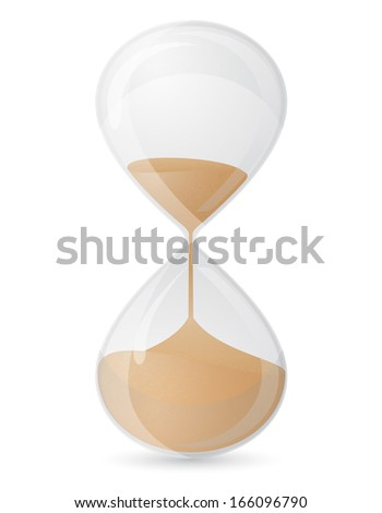 old retro hourglass illustration isolated on white background