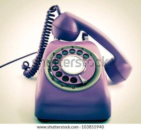 Retro Purple Phone Old Retro Phone
