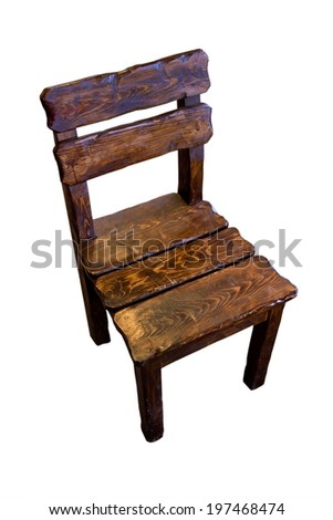 Old retro style wooden chair on a stone floor