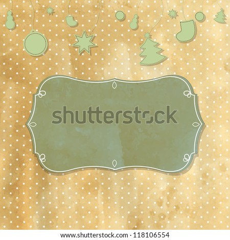 Old Retro Vintage Badge With Polka Dots - stock photo