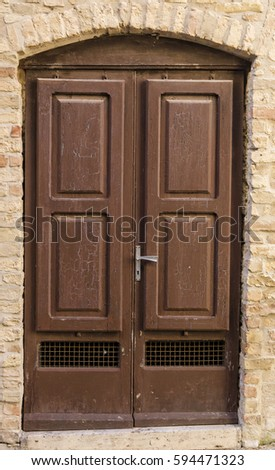 Old Retro Vintage Exterior Door Old Stock Photo Royalty Free