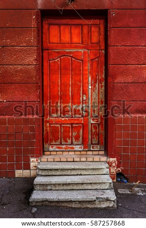 Exterior old red barn stock photo 2946443 shutterstock for 1950s front door designs