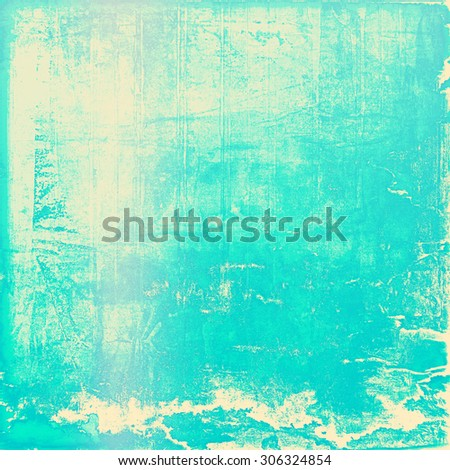 Old retro vintage texture. With different color patterns: yellow (beige); blue; cyan - stock photo