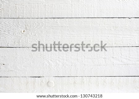 Old retro white painted wooden planks background - stock photo