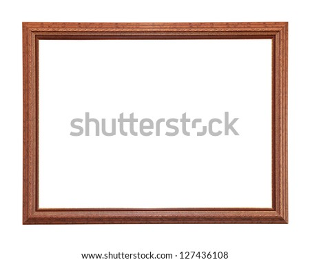 Old retro wooden frame isolated with clipping path included