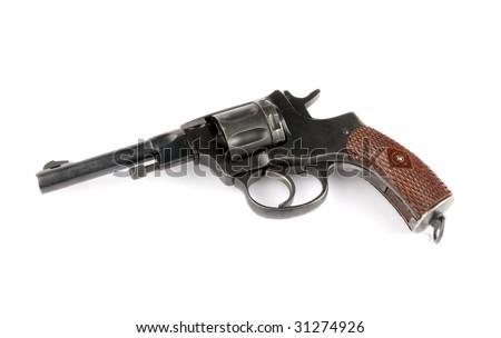 old revolver - stock photo