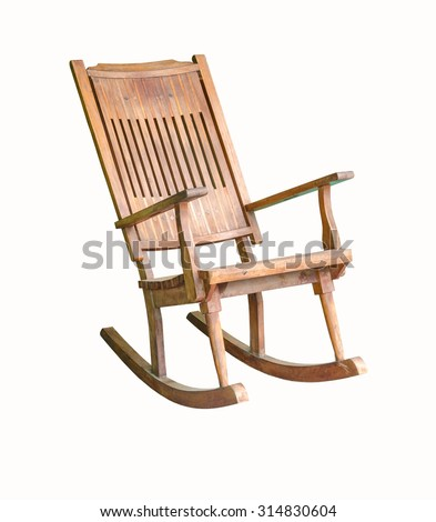 Old rocking chair isolated - stock photo