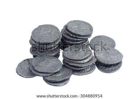 old roman coins  - stock photo