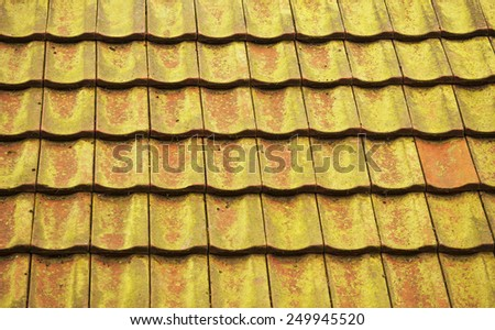 Old roof - stock photo