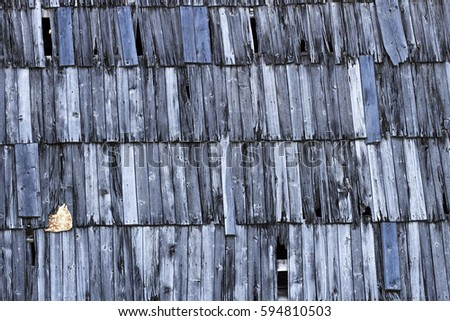 Old roof house