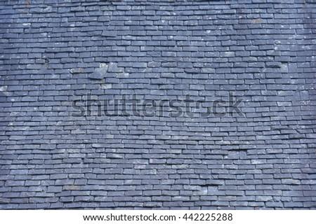 old roof slates - stock photo