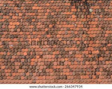 Old roof tiles background - stock photo