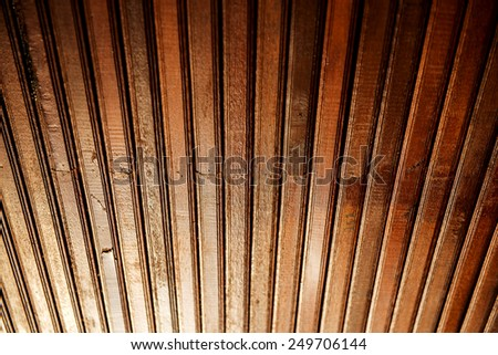 old roof wood background and texture - stock photo
