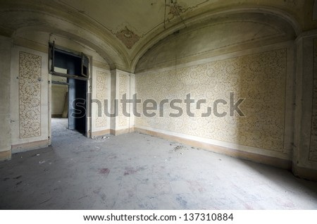 Old room abandoned