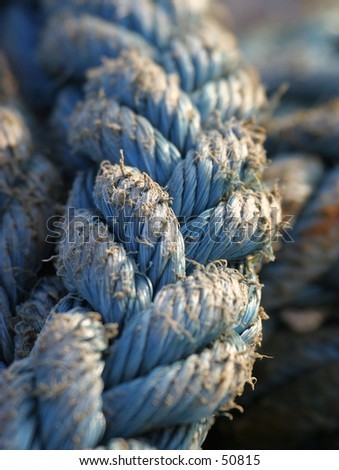 Old Rope 1 - stock photo