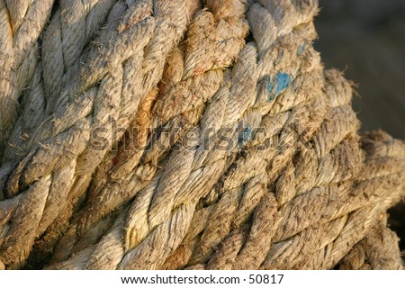 Old Rope 3 - stock photo