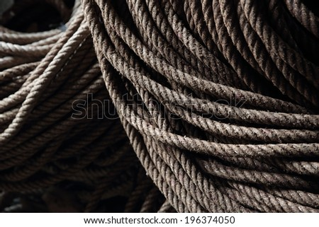 Old rope background. - stock photo