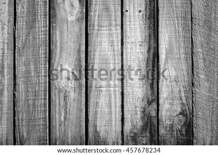 old rough timber fence planks with a old weathered look - stock photo