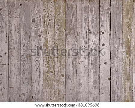 Old rough wood planks background, grain wooden texture - stock photo
