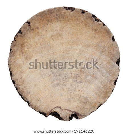 old round wood isolated on white background with clipping path  - stock photo