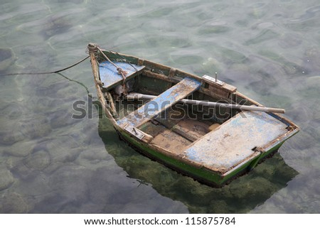 Old Rowing Boat - stock photo