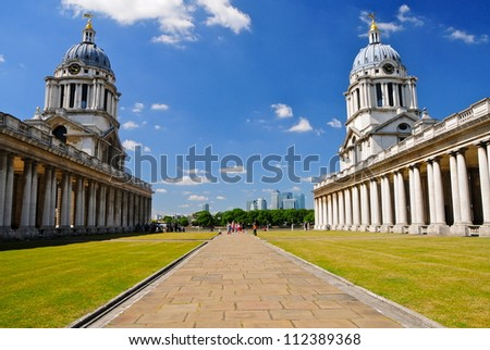 Old Royal Naval College, Greenwich, London, UK - stock photo