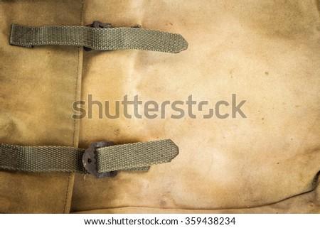 Old rucksack - stock photo