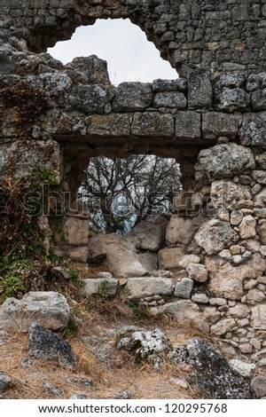 Old ruins - stock photo
