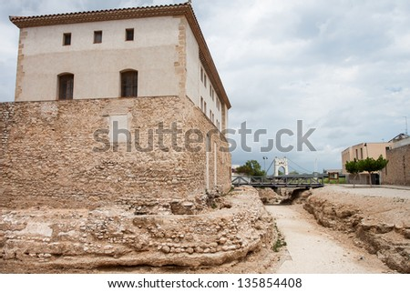 Old ruins in Amposta town of Spain
