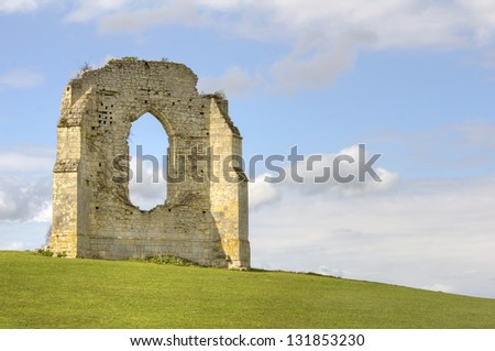 Old ruins of a french abbey