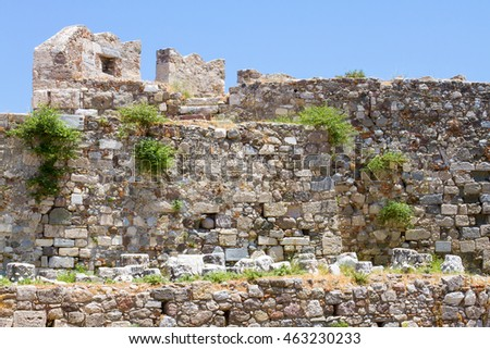 Old ruins of Neratzia, in Kos Town, Kos, Greece