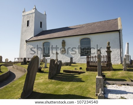 old rural church from ireland - stock photo