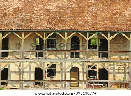 Old rural house in the Romanian village - stock photo