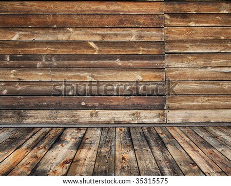 old rural wooden interior