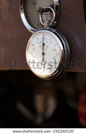 old russian stopwatch - stock photo