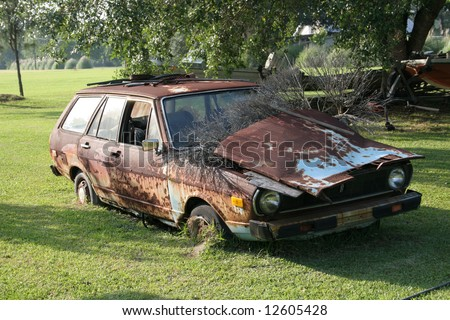 Old Rusted Out Car