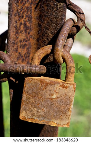 Old rusted Padlocks - stock photo