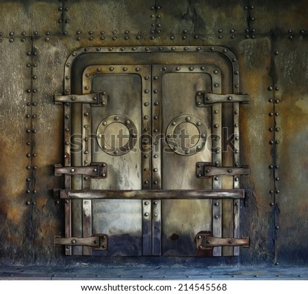 Old Rusted Vault door